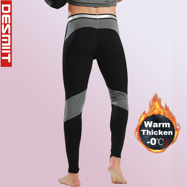 6fd1340a0b408 Winter Mens Leggings & Long Johns Running Compression Pants Sport Fitness  Gym Wear Tights Thicken Velvet