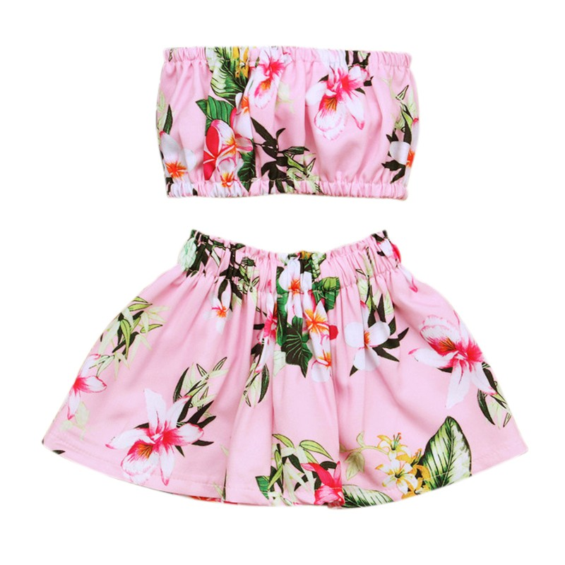 Hot Sale High Quality Summer Baby Girl Print Color Swimsuit With Flower Print Comfortable Dressing Playing