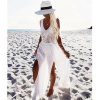 Crochet Lace Patchwork Beach Dress Tassels Saida De Praia Crochet Beach Covers Up Fringe Beachwear Plait