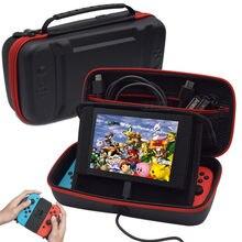 Nintendo Switch-funda impermeable de PU a prueba de golpes, carcasa dura, 10 soporte de juego de cartas, soporte para consola, accesorios para Nintendo Switch NS
