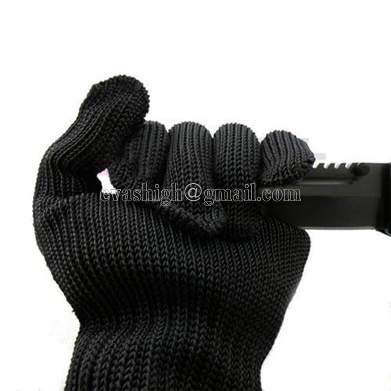 10 Pair Anti-cut glove Black Protective Safety Work Gloves For Work Gloves Cut Resistant Gloves With Stainless Steel Wire White