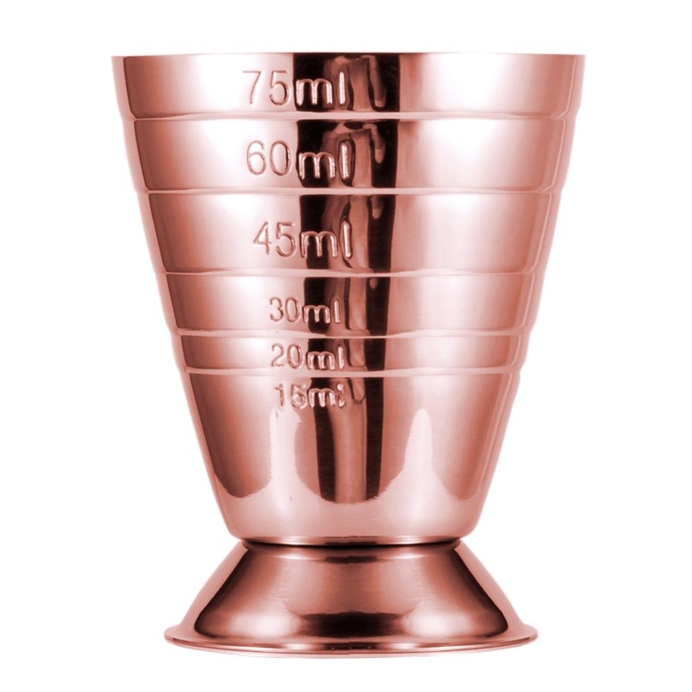 Homestia Hot Sale 75ml Measuring Mug Shot Cup Bar Jigger Stainless Steel Cocktail Drink Wine Ounce Cup Bar Measure Tool Barware