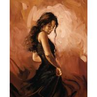 Female Oil art portrait paintings for living room Flamenco Dancer hand painted modern art sexy woman