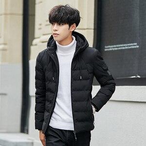 Image 2 - Veste et manteau dhiver à capuche pour homme, vêtements chauds et rembourré, à la mode, Parka pour hommes, 2018, 4XL, décontracté