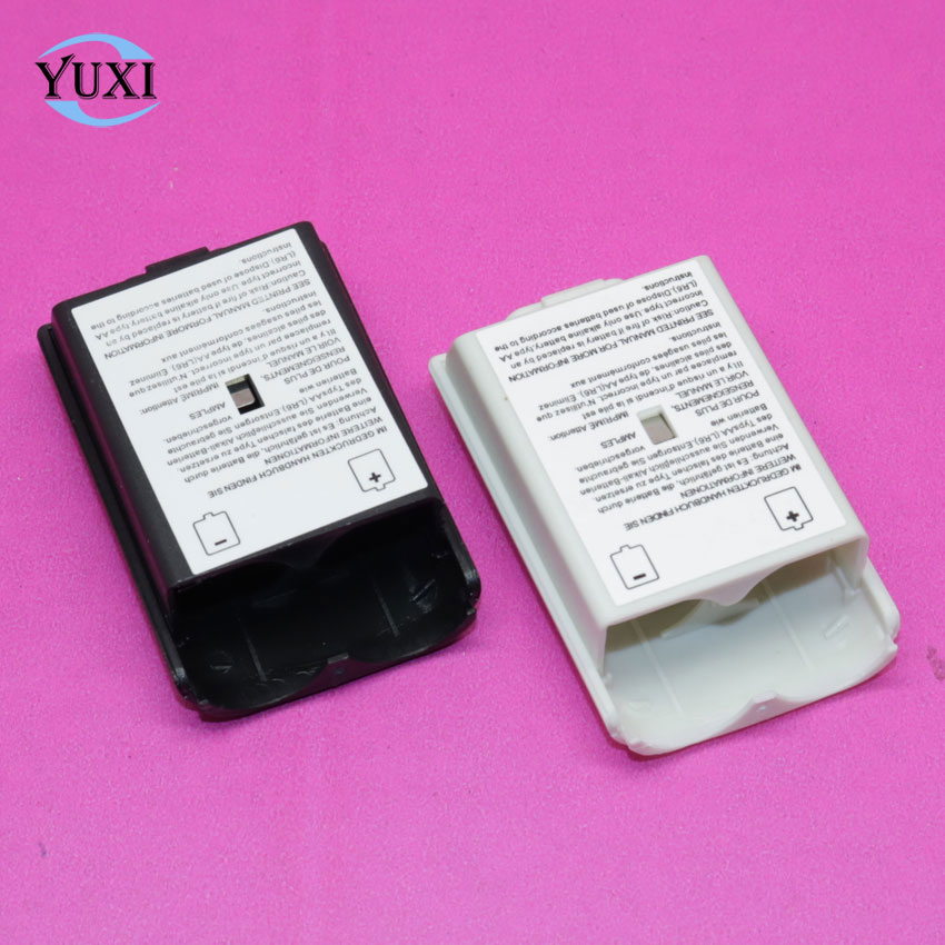 1pcs Black & White Battery Pack Cover Shell Shield Case Kit For XBOX360 / Xbox 360 Wireless Controller Replacement Parts.