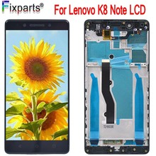 Original 5.5 Screen Lenovo K8 Note LCD DIsplay Touch Screen Digitizer Assembly Replacement Parts 1920*1080 Lenovo K8 Note LCD