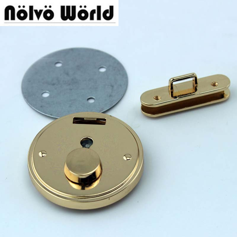 Real gold color 45mm press locks DIY fashion round shape bag locks acessories from direct factory,10sets camino real gold купить грн