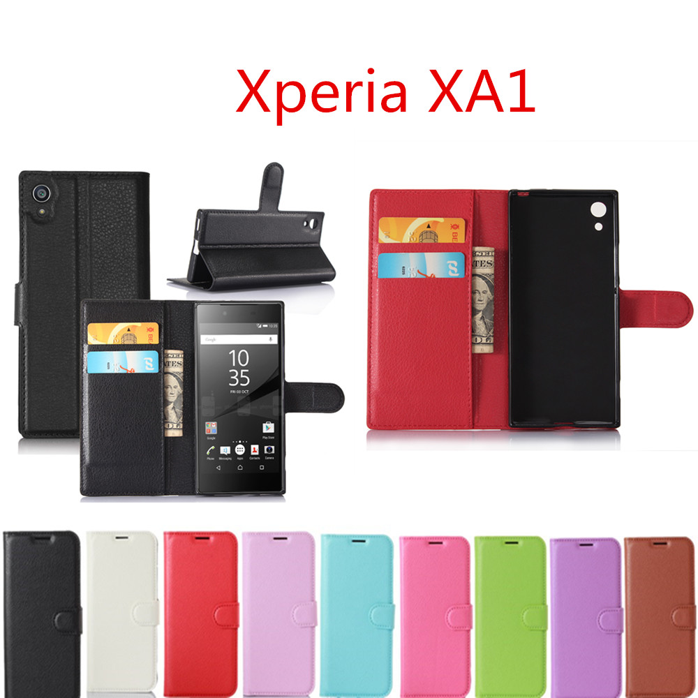 For <font><b>Sony</b></font> Xperia XA1 <font><b>G3112</b></font> G3116 G3121 G3123 G3125 Case 5.0inch Luxury Leather Wallet Cover For <font><b>Sony</b></font> Xperia XA1 Dua Phone Cases image
