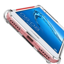 Transparent Airbag Case For Huawei P20 P9 P10 Lite Plus Honor 8 9 Lite GR3 Y3 Y5 P8Lite P9Lite 2017 Silicon Luxury Soft TPU Case(China)