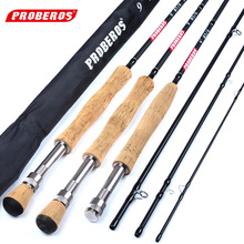 Ultra Light Portable 9ft Carbon Fiber Fly Fishing Rod 2.7M Telescoping 4 Sections Lure Hard Fishing Pole Rod Line Wt 3/4 5/6 7/8 5wt fly rod combo 9ft carbon fiber fly fishing rod