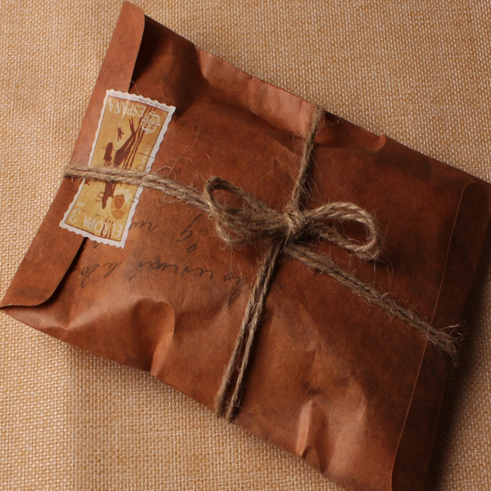1116cm 50pcslot old style vintage paper envelope brown kraft packaging for retro postcard invitation card small gift letter in paper envelopes from office