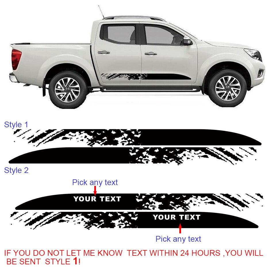 free shipping mudslinger off road styling door panel car graphic vinyl sticker for NAVARA NP300 2015
