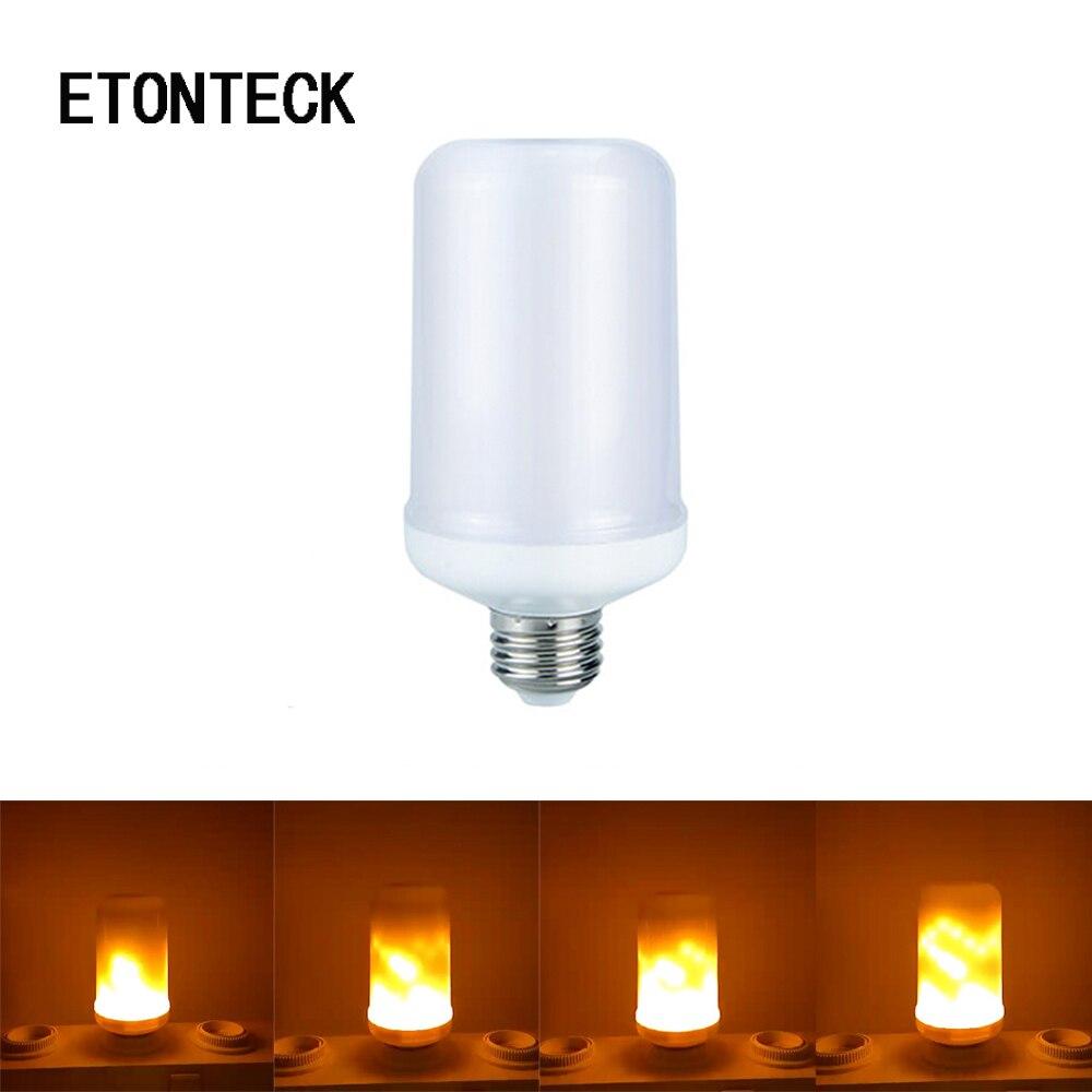 ETONTECK E27 E26 2835 LED Flamme Wirkung Feuer Glhbirnen 7 Watt Kreative Lichter Led Flackern Emulation