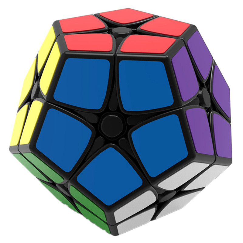 2X2 Megaminx Brain Teaser Magic Cube Speed Twisty Puzzle Toy - Black diy 3x3x3 brain teaser magic iq cube complete kit black