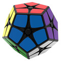 Shengshou SS 2X2 Megaminx Brain Teaser Magic Cube Speed Twisty Puzzle Toy - Black