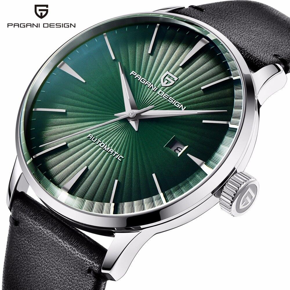Pagani Design Fashion Sport Automatic Mechanical Watch Men Genuine Leather Waterproof Mechanical Wrist Watches for Men Clock все цены