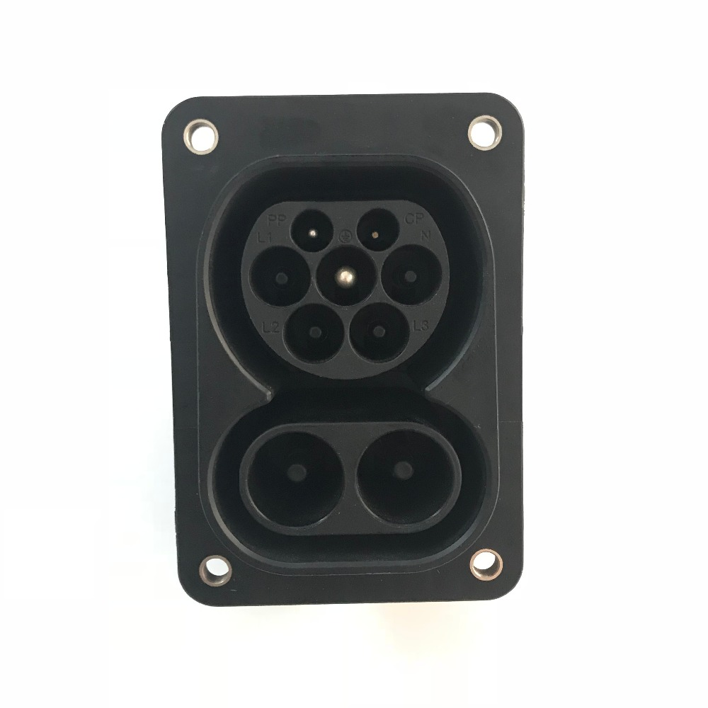 DUOSIDA 1000V 150A CCS 2 Combo 2 Ev Socket for installation in electric vehicles Male Charging