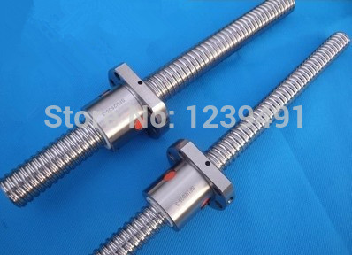 1pc SFU2005 ball screw L350mm +1pc 2005 ball nut without end machined CNC parts
