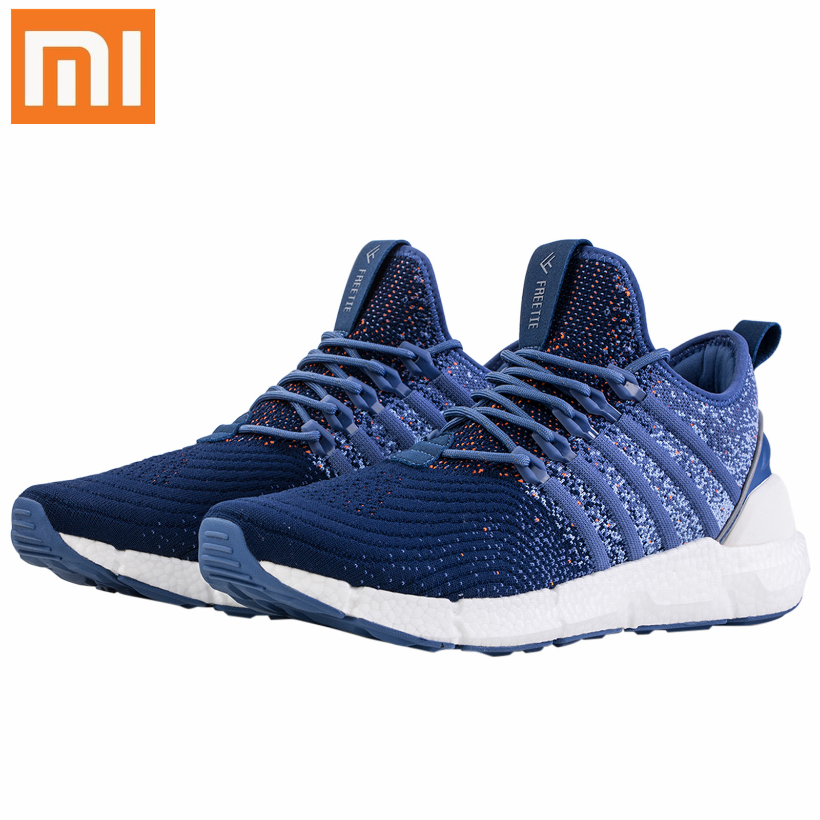 Xiaomi Mijia FREETIE Men Running Shoes Breathable Sneaker Travelling Sport Shoes Shock-absorbing Sneakers Knitted Upper