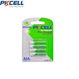 Image 4 - 8 шт. PKCELL 1,2 в никель металлгидридный NiMh AAA Перезаряжаемые Батарея рулонный батареи низкая степень самостоятельной разрядки (4 батарейки типа АА 2200 мА/ч +, 4 шт. AAA 850 мА · ч)