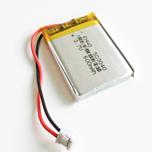 3.7V 600mAh battery JST PH 2.0mm 2pin 503040 Lithium Polymer Rechargeable Battery For Mp3 DVD Camera GPS bluetooth electronics(China)