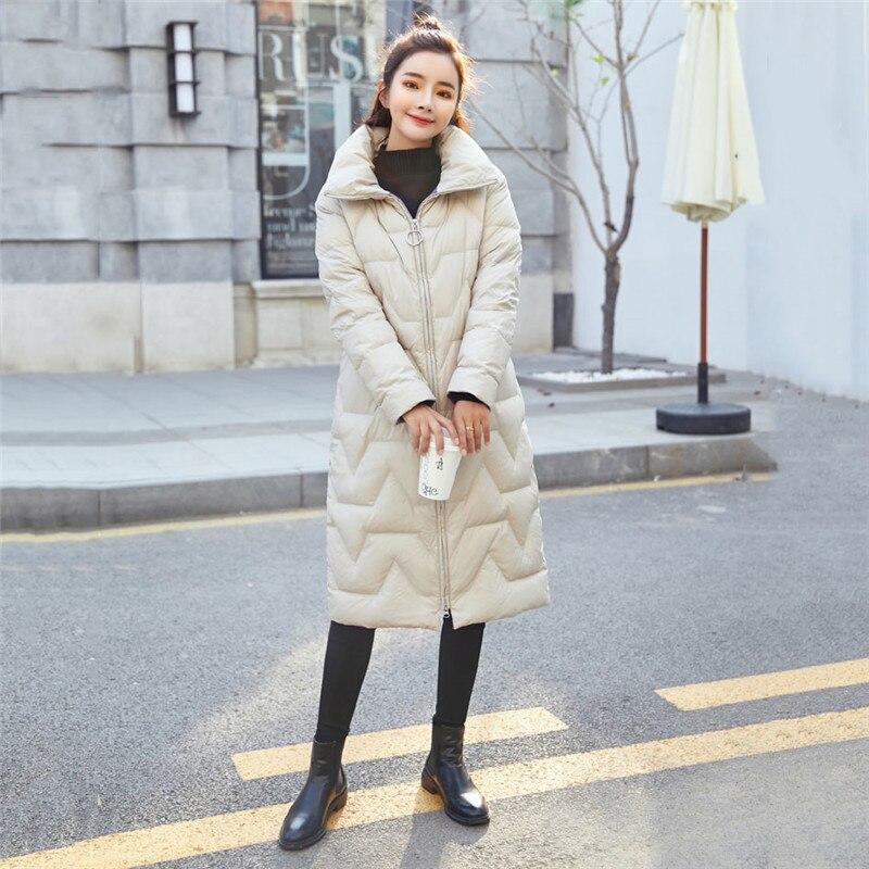 Women's Winter Fashion Jacket Thick Warm Coat Lady Cotton   Parka   Jacket Long jaqueta Winter jacket with Standing collar Feminina
