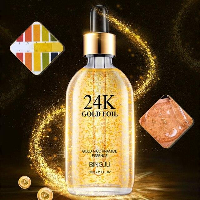 2019 24 K oro esencia aceite Control cara humectante Base blanqueadora maquillaje Primer poro minimizador cuidado de la piel suero