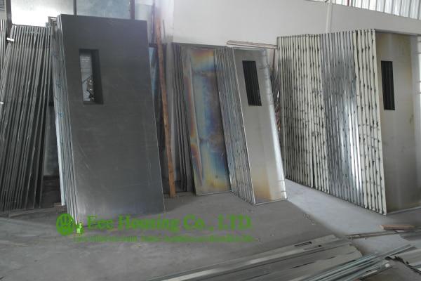 Steel Commercial Exit Fire Retardant DoorsCommercial Steel DoorsHollow Metal Doors & Residential Steel fire doors With Glass Vision 60 Minutes Fire ...