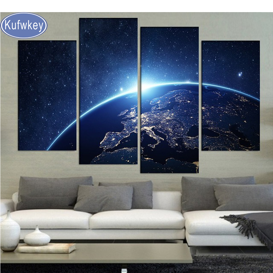 Professional Sale Full 5d Galaxy Planets Space Scenery Diy Square Diamond Painting Cross Stitch Home Decor Round Embroidery Mosaic Unique Gifts Home & Garden Needle Arts & Crafts