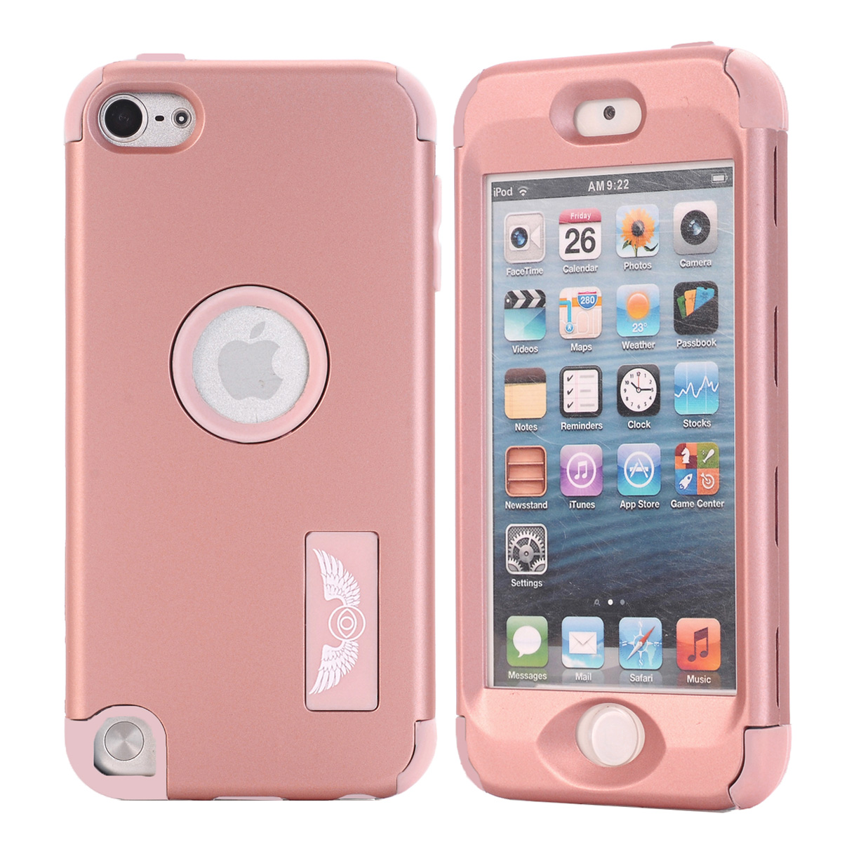 For Apple Ipod Touch 4 5 6 Tempered Glass Screen Protector 9h Safety 64gb Pink Kids Gifts Case Silicone Luxury Shockproof Armor Cover