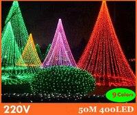 50m 9 Colors Led String Light 400 Leds Wedding Partying Xmas Christmas Tree Decoration Lights