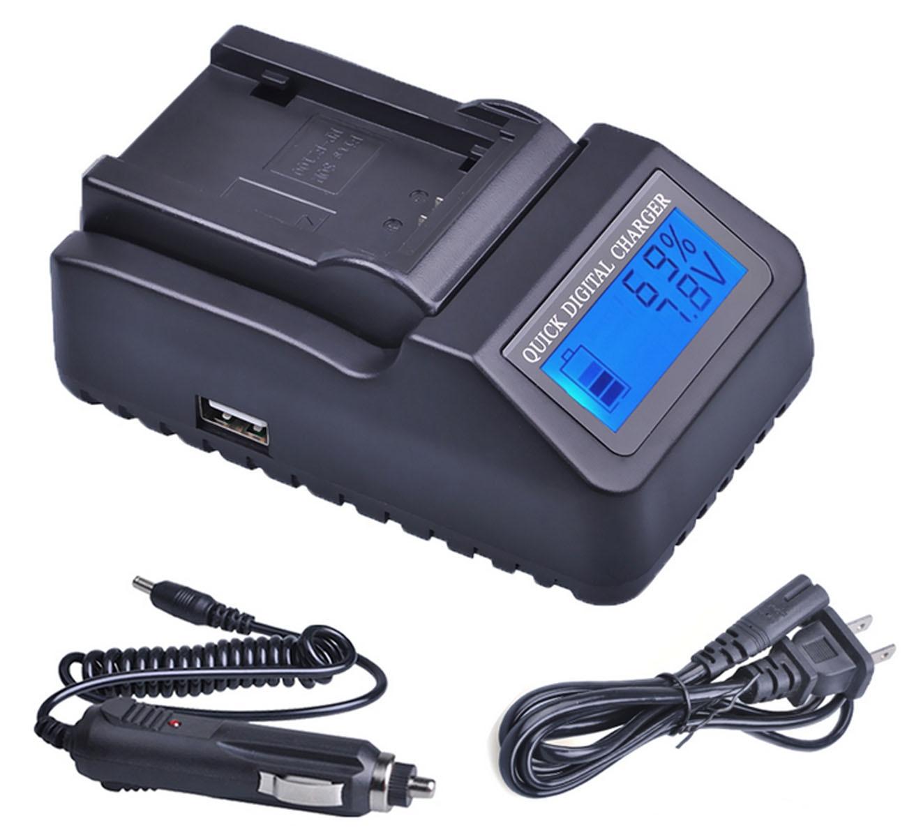 DCR-SR82 DCR-SR87 Handycam Camcorder LCD USB Battery Charger for Sony DCR-SR72 DCR-SR77 DCR-SR85 DCR-SR75