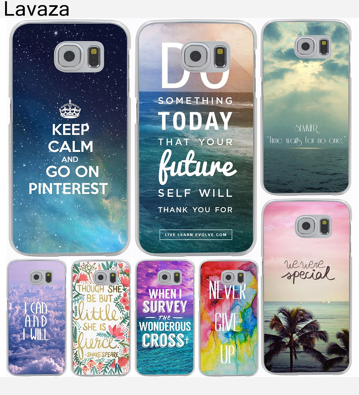 Lavaza Ocean Moutain Sky Romantic words Printed Case for Samsung Galaxy A3 A5 J7 J3 J5 2015 2016 2017 Grand Prime Note 2 3 4 5 ...