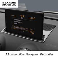 Car Styling carbon fiber Navigation Decorative Frame Strip Cover Sequins Special Modified For Audi A3 8V 2013 2014 2015 2016 17