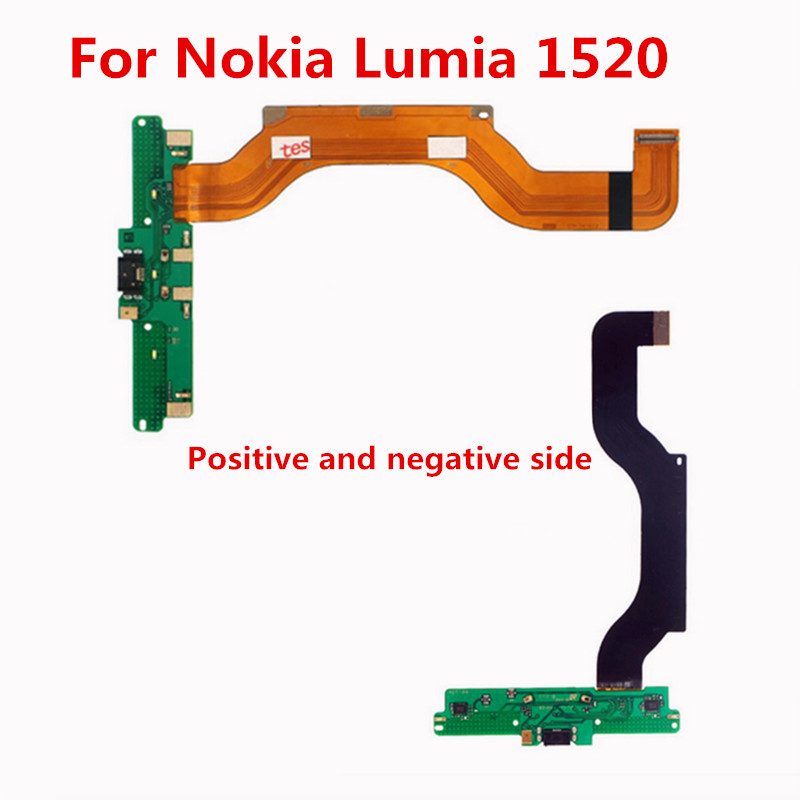 Atten High Quality Connector Board Mobile Phone Flex Cables for Nokia Lumia 1520 N1520 Charger Port USB Flex Cable