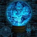 O Envio gratuito de 1 Peças de STAR WARS Desonestos Uma MORTE ESTRELA LUZ LED Desk Lamp Noite Efeito 3D ACRÍLICO 16 Cores mudando