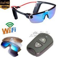 Free Shipping!Wifi HD 1080P F62 Sport Sunglasses Handfree camera Video Recorder Remote Control
