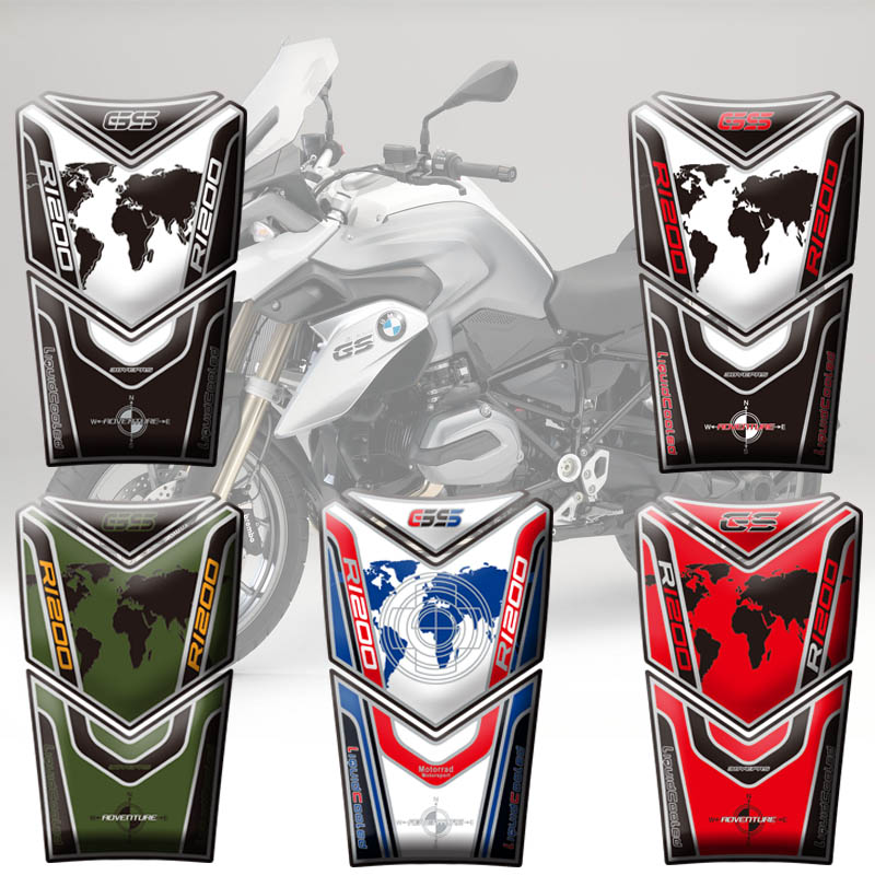 High Quality Motorcycle Tank Pad Protector Sticker Fish Bone Sticker For BMW R1200GS Adventure  2014 15 16 17 14-17