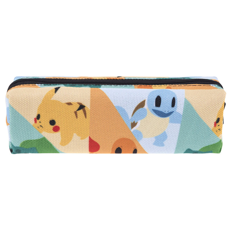 Women Cute Anime Cartoon Makeup Bag Pokemon Pikachu Travel School Pencil Case Girls Cosmetic Bags Handbag Female Clutch pokemon go print purse anime cartoon pikachu wallet pocket monster johnny turtle ibrahimovic zero pen pencil bag leather wallets