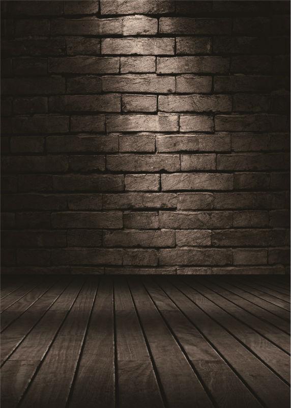 KIDNIU wooden floor photography backdrops vinyl 5x7ft or 3x5ft wedding photo background brick wall stor