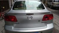 For Mazda 3 Spoiler High Quality ABS Material Car Rear Wing Primer Color Rear Spoiler For Mazda 3Spoiler 2006 2013
