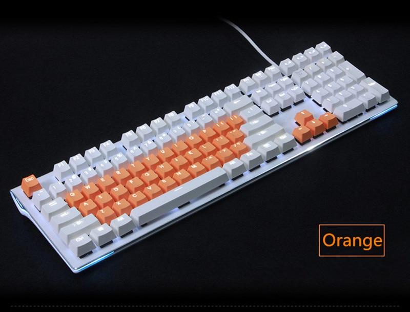 Cherry MX Keycaps Backlight PBT 37 Keys Plus ESC Double Shot Translucidus Backlight Backlit Keycap For Mechanical Keyboard