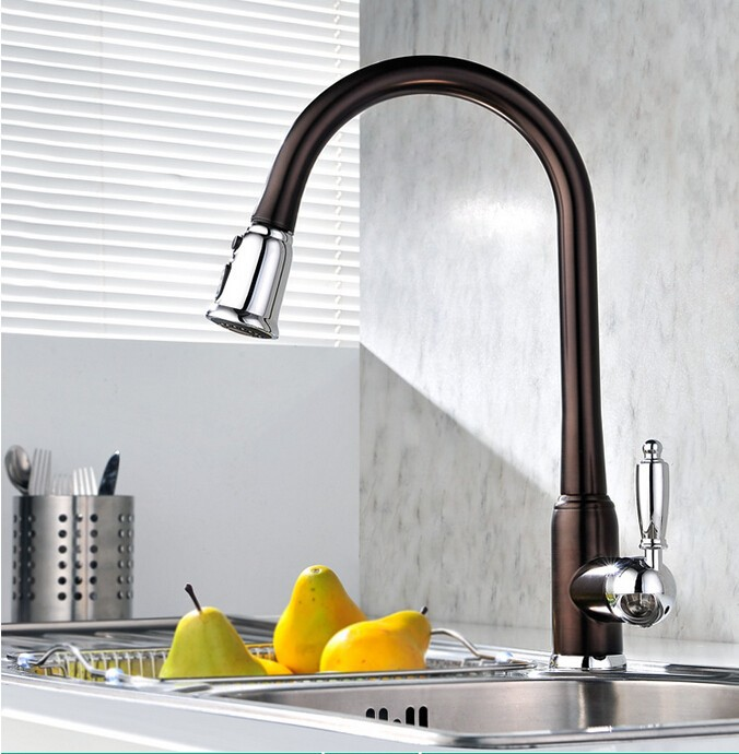 new arrival top quality brass hot and cold single lever kitchen sink faucet tap kitchen mixer