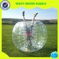 Nueva, tpu1. 7 m calidad funny burbuja inflable del balompié / fútbol, pelota de plástico humana