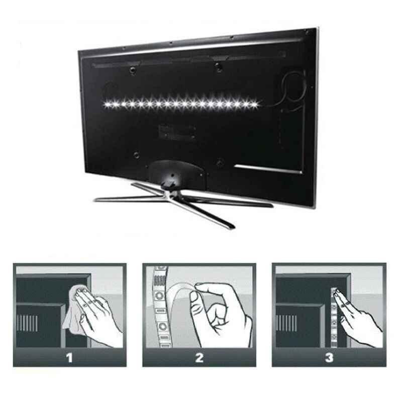 5 V USB 3AA Daya Baterai LED Strip SMD2835 Fleksibel Pita LED Pita 1 M 2 M 3 M 4 M 5 M Desktop Latar Belakang Layar Ambilight TV