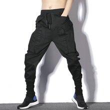 2020 bahar yeni koşucu pantolonu erkekler Hip Hop siyah Sweatpants rahat ince erkek harem pantolon