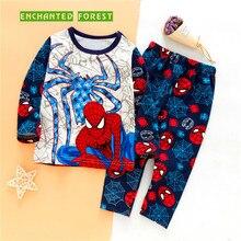 Boy Set Four Seasons Boys Cotton Pajamas Childrens Underwear Cartoon Pattern Comfortable Warm Baby