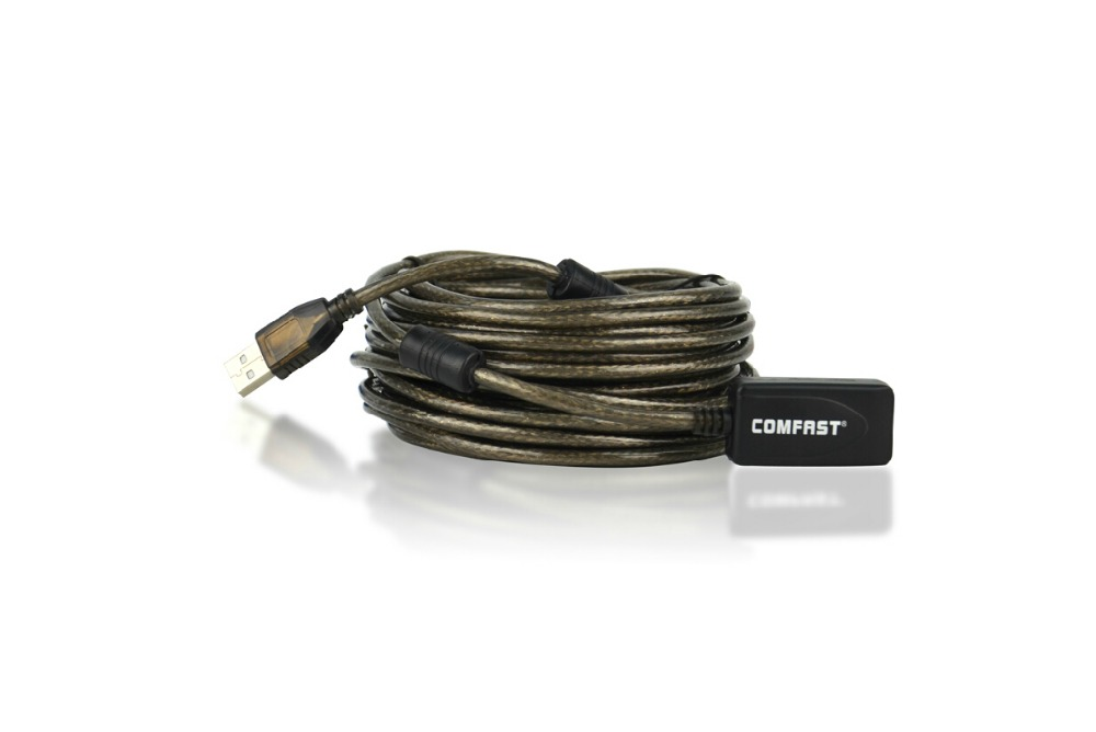 High Speed Comfast CF-U10 Active 30Ft USB 2.0 Extension Cable Male To Female With Booster Repeater Extender 10 M 10 Meter