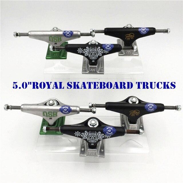 オリジナル米国 5.0 インチロイヤルトラックスケートボードアルミ製ため 2 タイプ Caminhao トラック kaykay