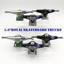 Caminhões reais originais dos eua de 5.0 polegadas para o skate feito pelo alumínio para 2 tipos caminhao caminhões kaykay